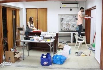 מתנדבים לשיפוצים. הברנוער בתל אביב